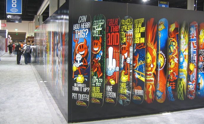 trade show displays and wall graphics