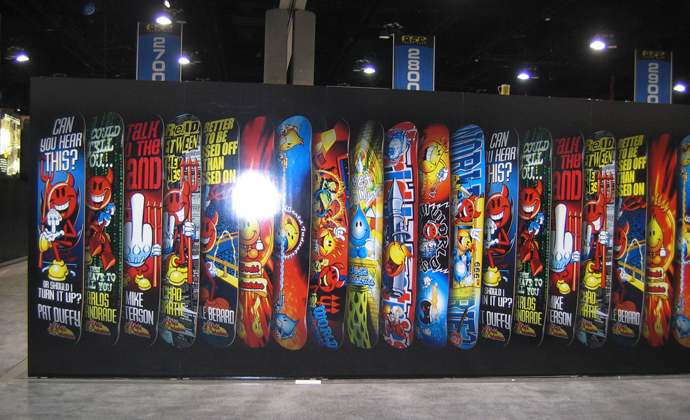 vinyl wall trade show graphics