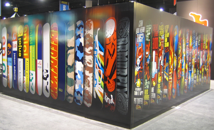 We print trade show displays and graphics